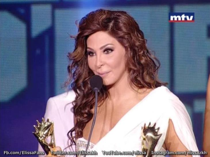 Elissa winning two Murex D'or Award 2013