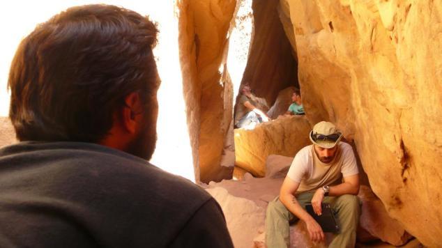 Yanal Kassay on set