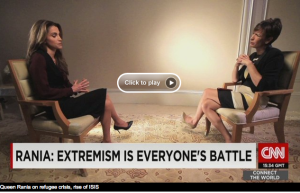 Queen Rania with Becky Anderson on CNN