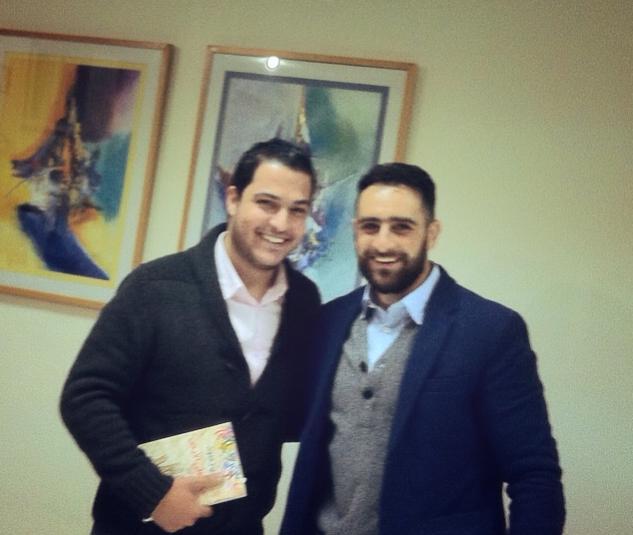 مع الشاب محمد طحان