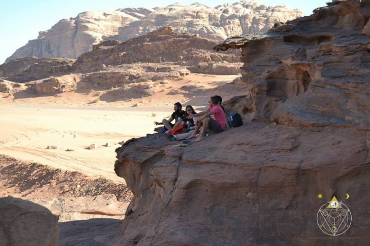 The Alchemist reading in wadi rum
